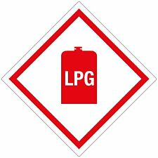 LPG Warning Sticker - 100x100mm **PACK OF 2** - Caravan - Motorhome