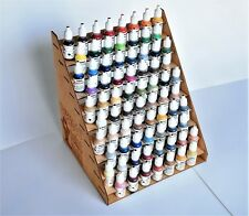 75 bottles Typhoon Wooden Acrylic Color Paint Bottle Storage Rack Holder Modular