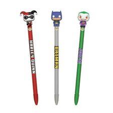 FUNKO POP Batman, Joker & Harley Quinn POP PENS. PERFECT STOCKING FILLERS!