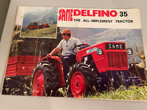 Same Delfino 35 Tractor Dealer's Sales Brochure The All-Implement Tractor Italy