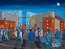 Blackburn Rovers FC Ewood Park Stadium High Quality Framed Art Print. Approx A4.