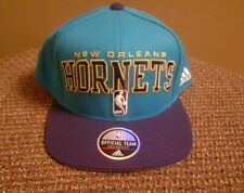 New Orleans Hornets Adidas Adjustable Snapback Hat Teal & Purple NBA Draft Cap