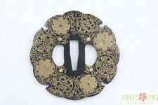 A+ Japanese Katana Iron Tsuba TE018 With Pattern High Qulity & Huge Stock!!!