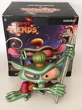 Kidrobot Best Fiends CNY Metallic Green - Wu The Tarsier Figure w/ Box - Rare