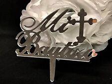 Mi Bautizo Plastic Mirror Cake Topper Baptism Centerpiece Decoration