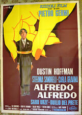 MANIFESTO ORIGINALE ALFREDO ALFREDO 72 PIETRO GERMI DUSTIN HOFFMAN SANDRELLI