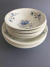 Poole Pottery Blue Flower Cereal / Dessert Bowls x 10 ~Job Lot~ Signed Franwise