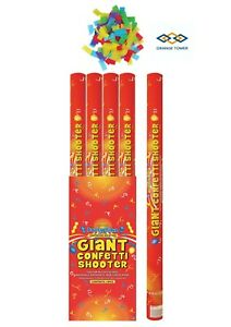 80cm Giant Confetti Shooter Party Wedding Poppers Compressed Air Cannon x 6