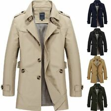 YOUTHUP Men's Coats Casual Fleece Winter Trench Coat Regular Fit Military Jackets