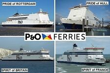 SOUVENIR FRIDGE MAGNET - FERRY LINE - P&O FERRIES HULL ZEEBRUGGE DOVER IRELAND