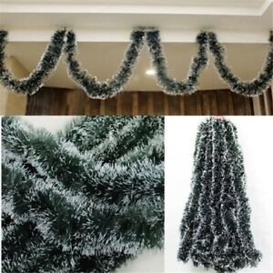 Hot Christmas Garland Xmas Fireplace Tree Decorate Pine Green Ribbon Wreaths 2M