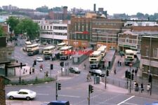 PHOTO  WALSALL BUS STATION ON 22/09/78 TAKEN FROM THE TOP OF HATHERTON ROAD CAR