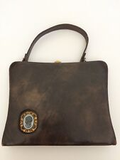 New listing Auth Made in Usa Vintage shoulder bag purse brown leather