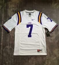 Men's NCAA Nike LSU Tigers Limited Football Jersey No #7 White