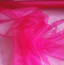 "Shine Organza Tulle Fabric Sheer Voile DIY Bridal Decor 60"" Wide Per Meter Lot"