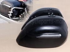 USA Motorcycle Black Hard Saddle Bag Trunk Case for Yamaha Suzuki Kawasaki Honda