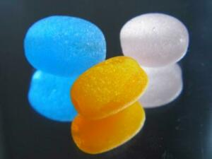 3 Bead S-M Pink Turquoise Orange 0.21oz JQ RARE Genuine Seaham English Sea Glass