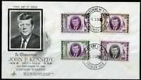 GUINEA SET 1964  JOHN F. KENNEDY  MEMORIAL FIRST DAY COVER