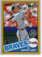 Chipper Jones 2020 Topps 1985 35th Anniversary 5x7 Gold #85-7 /10 Braves