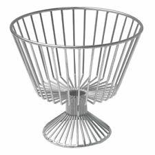 """Hubert Fruit Basket Round Silver Metal - 11""""Dia x 6 1/2""""H"""