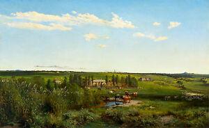 Louis Buvelot - Mount Fyans Homestead, Museum Poster, Art Canvas Print