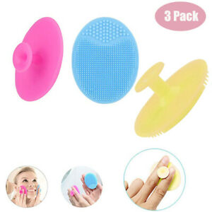 3XSilicone Face Cleansing Brush Face Scrubber Mini Massage Facial Cleansing Tool