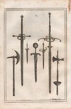 1801 ANTIQUE MILITARY PRINT - ARMOUR PLATE 27 SWORDS AND DAGGERS