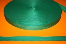 SANGLE RUBAN Gros Grain VERT 25 mm pour vos loisirs créatifs Vendu aux Mètres