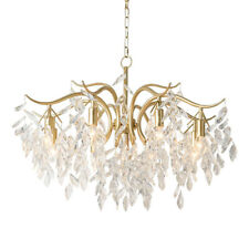 Modern Gold Metal Crystal Chandelier Luxury Living Room Pendant Lamp Art Light