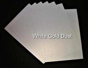 A4 White Gold Dust Shimmer Card  Pearlised Double Sided Card
