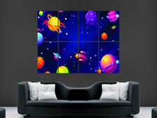MAP SPACE ASTRONOMY BURRITT 1856 MAGNITUDE PLANETS REPRO POSTER PRINT PAM1207