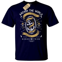 Anchor The World T-Shirt Mens nautical gift