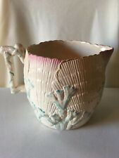 "Vintage ""Majolica"" Smith & Hall Etruscan Griffin Albino Shell & Seaweed Water Pi"