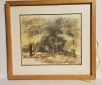 FRAMED AND MATTED ART BY LOL NICELY FOREST / TREES NATURE SCENE 29X17