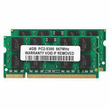 8GB 2x 4GB PC2-5300 DDR2-667MH​z 200pin SO-DIMM Laptop Memory NON-ECC Unbuffered