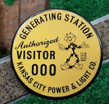 MISSOURI - KANSAS CITY GENERATING Visitor Pass BUTTON SAMPLE - w/ Reddy Kilowatt