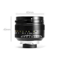 BW 7artisans 50mm f1.1 Manual Lens Black for Leica M Mount M-M M3 M6 M7 M8 M9p