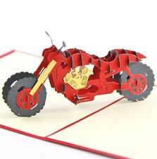 3D Motorcycle greeting card,racing motorcycle pop-up card,lovely greeting card