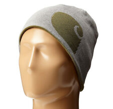 New listing Carhartt Men's Greenfield Reversible Beanie Hat (100137 301) Army Green One Size