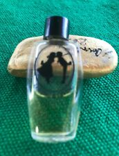Vintage Loving And Giving Perfume Bottle Miniature Sillouette Rare