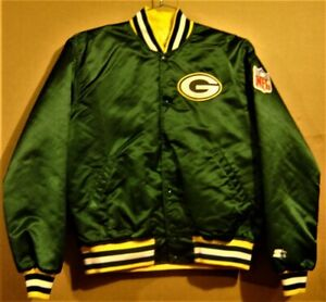 GREEN BAY PACKERS GREEN JACKET BY STARTER with NFL PATCH and FREE CAP!!