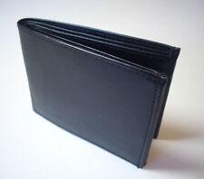 100% Men's Slim Wallet Genuine Leather- Bi-fold Black