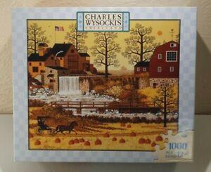 Charles Wysocki 1000 Piece Jigsaw Puzzle  Hasbro/MB A Friendly Good Day Sealed