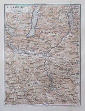 1897 Salzkammergut Salzburg Österreich - Lithografie alte Landkarte old map