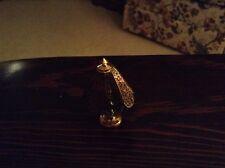 Dollhouse Furniture Tiffany Style Brass Lamp 1:12