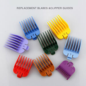 8PCS For WAHL Hair Clipper Limit Combs Guide Trimmer Guards Attachment Combs Set
