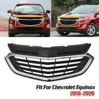 For Chevrolet Equinox 2018-2020 Mesh Chrome Front Bumper Upper Grille Grill 2019