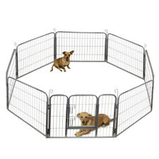 Dog Pet Playpen Heavy Duty Metal Exercise Fence Hammigrid 8 Panel 32""
