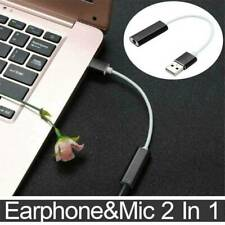 USB To 3.5mm Stereo Jack Headset Audio Adapter Cable External Sound Card Jack-UK