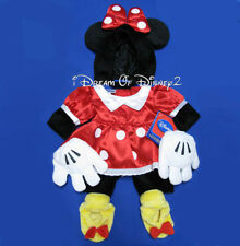 Build-A-Bear Disney MINNIE MOUSE RETIRED COSTUME Dress Ears Shoes Teddy Clothes